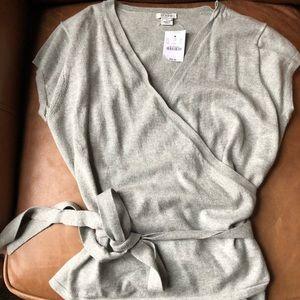 JCREW Short sleeve wrap sweater